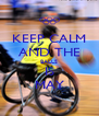 KEEP CALM AND THE BALLS IS MAY - Personalised Poster A4 size