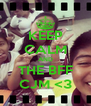 KEEP CALM AND THE BFF CJM <3 - Personalised Poster A4 size
