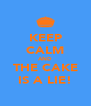KEEP CALM AND THE CAKE IS A LIE! - Personalised Poster A4 size