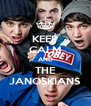 KEEP CALM AND THE JANOSKIANS - Personalised Poster A4 size