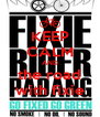 KEEP CALM AND the road with fixie - Personalised Poster A4 size