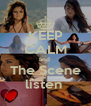 KEEP CALM and  The Scene listen  - Personalised Poster A4 size