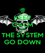 KEEP CALM AND THE SYSTEM GO DOWN - Personalised Poster A4 size