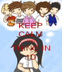 KEEP CALM AND THING IN 1D - Personalised Poster A4 size