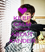 KEEP CALM AND THINK ABOUT XANDER - Personalised Poster A4 size