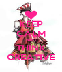 KEEP CALM AND THINK CREATIVE - Personalised Poster A4 size