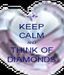 KEEP CALM AND THINK OF DIAMONDS - Personalised Poster A4 size