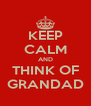 KEEP CALM AND THINK OF GRANDAD - Personalised Poster A4 size