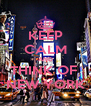 KEEP CALM AND THINK OF  NEW YORK - Personalised Poster A4 size