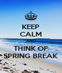 KEEP CALM AND THINK OF SPRING BREAK - Personalised Poster A4 size