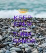 KEEP CALM AND THINK   SANDA - Personalised Poster A4 size