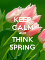 KEEP CALM AND THINK SPRING - Personalised Poster A4 size