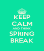KEEP CALM AND THINK SPRING BREAK - Personalised Poster A4 size