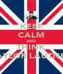 KEEP CALM AND THINK TAYLOR LAUTNER - Personalised Poster A4 size