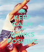 KEEP CALM AND THINKS POSITIVE - Personalised Poster A4 size