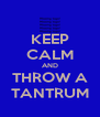 KEEP CALM AND THROW A TANTRUM - Personalised Poster A4 size