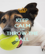 KEEP CALM AND THROW THE BALL - Personalised Poster A4 size
