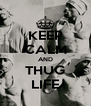 KEEP CALM AND THUG LIFE - Personalised Poster A4 size