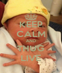 KEEP CALM AND THUG LIVE - Personalised Poster A4 size