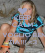 KEEP CALM AND TI VOGLIO BENE ZIA!!! <3 - Personalised Poster A4 size