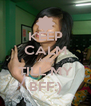 KEEP CALM AND TILL MY BFF:) - Personalised Poster A4 size