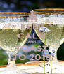 KEEP CALM AND TOAST TO 2016 - Personalised Poster A4 size