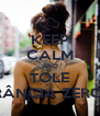 KEEP CALM AND TOLE RÂNCIA ZERO! - Personalised Poster A4 size