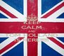KEEP CALM AND TOM HOLLAND IS HERE!!!!!! - Personalised Poster A4 size