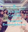 KEEP CALM AND Tonjours Ensemble>< - Personalised Poster A4 size