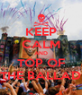 KEEP CALM AND TOP OF THE BALLAD - Personalised Poster A4 size