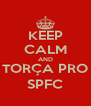 KEEP CALM AND TORÇA PRO SPFC - Personalised Poster A4 size