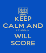 KEEP CALM AND TORRES  WILL SCORE - Personalised Poster A4 size