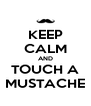 KEEP CALM AND TOUCH A MUSTACHE - Personalised Poster A4 size