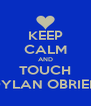 KEEP CALM AND TOUCH DYLAN OBRIEN - Personalised Poster A4 size