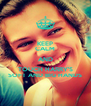KEEP CALM AND TOUCH HARRY'S SOFT AND BIG HANDS - Personalised Poster A4 size