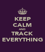 KEEP CALM AND TRACK EVERYTHING - Personalised Poster A4 size