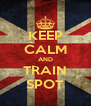 KEEP CALM AND TRAIN SPOT - Personalised Poster A4 size