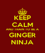 KEEP CALM AND TRAIN TO BE A GINGER NINJA - Personalised Poster A4 size