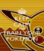 KEEP CALM AND TRAIN YOUR POKEMON - Personalised Poster A4 size