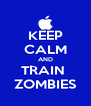 KEEP CALM AND TRAIN  ZOMBIES - Personalised Poster A4 size