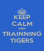 KEEP CALM AND TRAINNING TIGERS - Personalised Poster A4 size