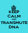KEEP CALM AND TRANSMUTE DNA - Personalised Poster A4 size