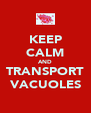 KEEP CALM AND TRANSPORT VACUOLES - Personalised Poster A4 size