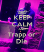 KEEP CALM AND Trapp or Die - Personalised Poster A4 size