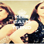 KEEP CALM AND TREND  - Personalised Poster A4 size