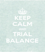 KEEP CALM AND TRIAL BALANCE - Personalised Poster A4 size