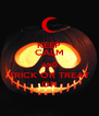 KEEP CALM AND TRICK OR TREAT ON - Personalised Poster A4 size