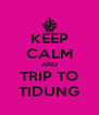 KEEP CALM AND TRIP TO TIDUNG - Personalised Poster A4 size