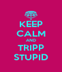 KEEP CALM AND TRIPP STUPID - Personalised Poster A4 size