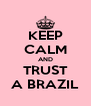 KEEP CALM AND TRUST A BRAZIL - Personalised Poster A4 size